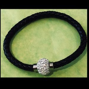 Jewelry - STACK LEATHER & RHINESTONE BRACELET